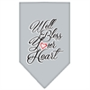 Mirage Pet Products Well Bless Your Heart Screen Print Bandana Grey Large
