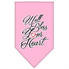 Mirage Pet Products Well Bless Your Heart Screen Print Bandana Light Pink Small