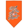 Mirage Pet Products Well Bless Your Heart Screen Print Bandana Orange Small