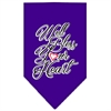 Mirage Pet Products Well Bless Your Heart Screen Print Bandana Purple Large