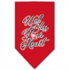 Mirage Pet Products Well Bless Your Heart Screen Print Bandana Red Small