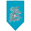 Mirage Pet Products Well Bless Your Heart Screen Print Bandana Turquoise Large