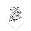 Mirage Pet Products Well Bless Your Heart Screen Print Bandana White Large