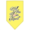 Mirage Pet Products Well Bless Your Heart Screen Print Bandana Yellow Large