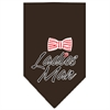 Mirage Pet Products Ladies Man Screen Print Bandana Brown Small