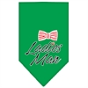 Mirage Pet Products Ladies Man Screen Print Bandana Emerald Green Small