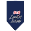 Mirage Pet Products Ladies Man Screen Print Bandana Navy Blue Small