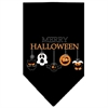 Mirage Pet Products Merry Halloween Screen Print Bandana Black Large