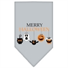 Mirage Pet Products Merry Halloween Screen Print Bandana Grey Large