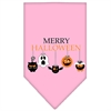 Mirage Pet Products Merry Halloween Screen Print Bandana Light Pink Large