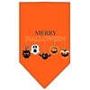 Mirage Pet Products Merry Halloween Screen Print Bandana Orange Small
