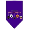 Mirage Pet Products Merry Halloween Screen Print Bandana Purple Large