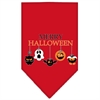 Mirage Pet Products Merry Halloween Screen Print Bandana Red Small