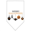 Mirage Pet Products Merry Halloween Screen Print Bandana White Large