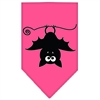 Mirage Pet Products Batsy the Bat Screen Print Bandana Bright Pink Large