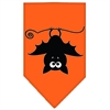 Mirage Pet Products Batsy the Bat Screen Print Bandana Orange Small