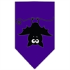 Mirage Pet Products Batsy the Bat Screen Print Bandana Purple Large