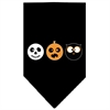 Mirage Pet Products The Spook Trio Screen Print Bandana Black Large