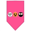 Mirage Pet Products The Spook Trio Screen Print Bandana Bright Pink Large