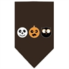 Mirage Pet Products The Spook Trio Screen Print Bandana Brown Large