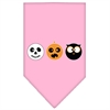 Mirage Pet Products The Spook Trio Screen Print Bandana Light Pink Large