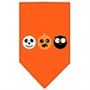 Mirage Pet Products The Spook Trio Screen Print Bandana Orange large