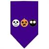 Mirage Pet Products The Spook Trio Screen Print Bandana Purple Large