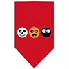 Mirage Pet Products The Spook Trio Screen Print Bandana Red Large