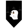 Mirage Pet Products Sammy the Ghost Screen Print Bandana Black Large