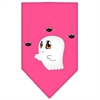 Mirage Pet Products Sammy the Ghost Screen Print Bandana Bright Pink Small