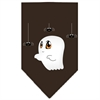 Mirage Pet Products Sammy the Ghost Screen Print Bandana Brown Large