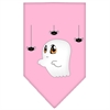 Mirage Pet Products Sammy the Ghost Screen Print Bandana Light Pink Large