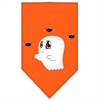 Mirage Pet Products Sammy the Ghost Screen Print Bandana Orange Small