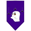 Mirage Pet Products Sammy the Ghost Screen Print Bandana Purple Large