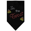 Mirage Pet Products I'm the Treat Rhinestone Bandana Black Large