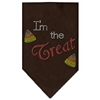 Mirage Pet Products I'm the Treat Rhinestone Bandana Brown Large