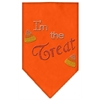 Mirage Pet Products I'm the Treat Rhinestone Bandana Orange Small
