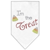 Mirage Pet Products I'm the Treat Rhinestone Bandana White Small