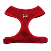 Mirage Pet Products American Flag Chipper Red Harness Small