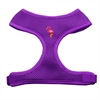 Mirage Pet Products Pink Flamingo Chipper Purple Harness Large