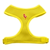 Mirage Pet Products Pink Flamingo Chipper Yellow Harness Medium