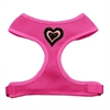 Mirage Pet Products Black and Pink Hearts Chipper Pink Harness Small