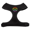 Mirage Pet Products Rainbow Peace Sign Chipper Black Harness Small