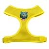 Mirage Pet Products Blue Owls Chipper Yellow Harness Large