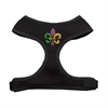 Mirage Pet Products Mardi Gras Fleur de Lis Chipper Black Harness Small