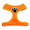 Mirage Pet Products Black Paws Chipper Orange Harness Small