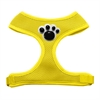 Mirage Pet Products Black Paws Chipper Yellow Harness Medium
