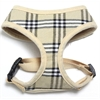 Mirage Pet Products Plaid Mesh Pet Harness Cream Large