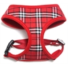 Mirage Pet Products Plaid Mesh Pet Harness Red Medium