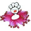 Mirage Pet Products Rose Smoocher Bright Pink with Bright Pink Roses Size Medium
